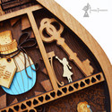 Pool Of Tears, Alice In Wonderland Layered Wooden Wall Art