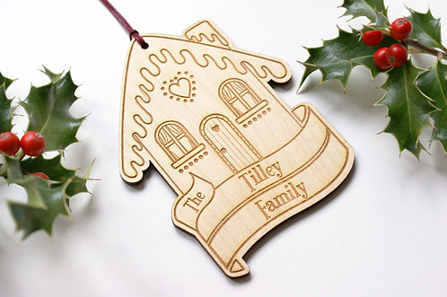 Personalised Gingerbread House Decoration