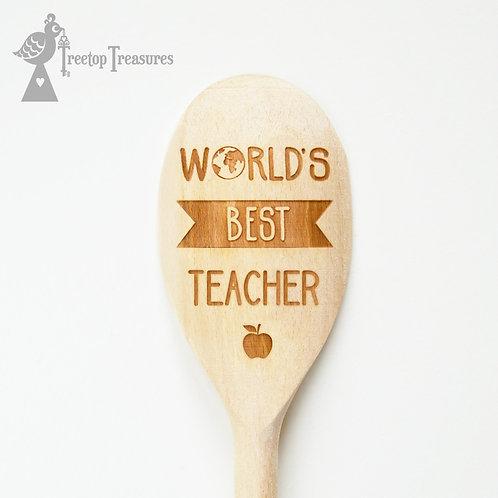 Personalised World's Best Teacher Wooden Spoon