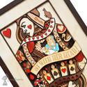 Queen Of Hearts, Alice In Wonderland Layered Wooden Wall Art