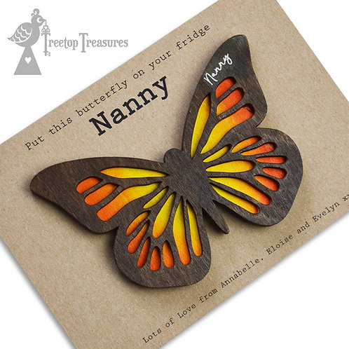 Personalised Butterfly Magnet