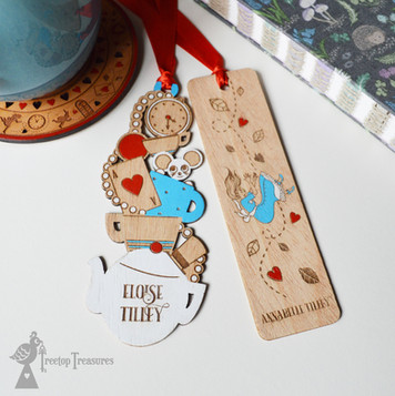 Personalised Alice in Wonderland Bookmark