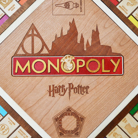 Alohomora! That time we made a Harry Potter Monopoly Board