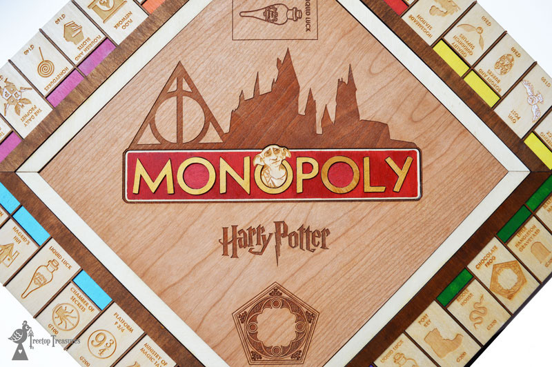 Wooden Harry Potter Monopoly