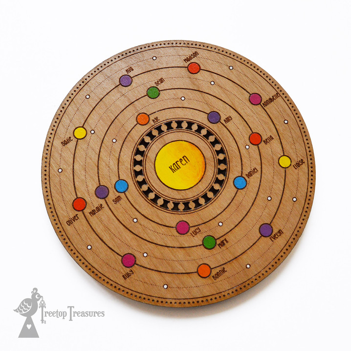 Personalised Family Circle Space Coaster