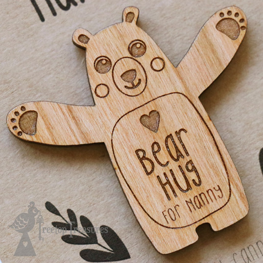 Personalised Bear Hug Magnet