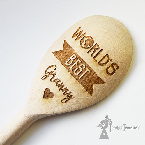Personalised  'World's Best...' Wooden Spoon
