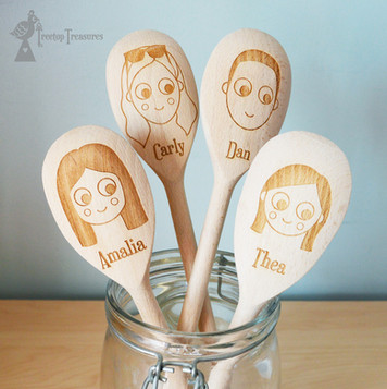 Custom Face Wooden Spoons
