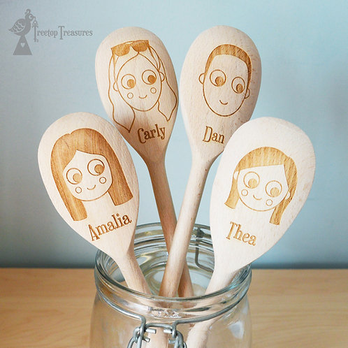 Custom Face Wooden Spoons