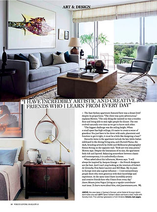 Vogue Living article Jason Mowen