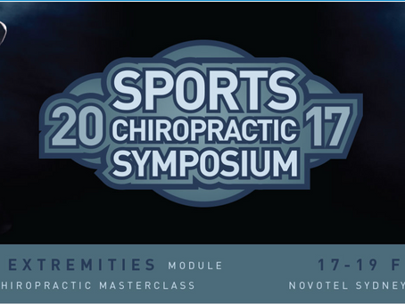 Sports Chiropractic Symposium this weekend