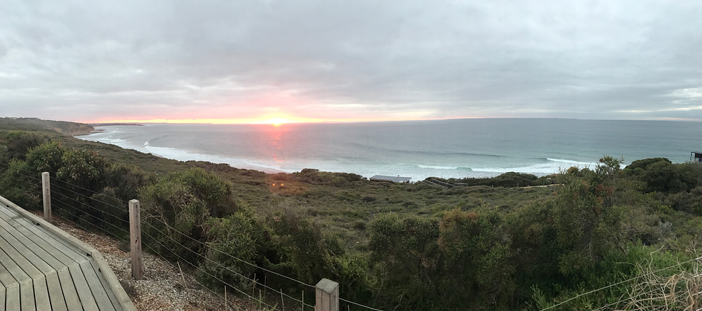 Sunrise over Winkipop on the opening day of the Rip Curl Pro