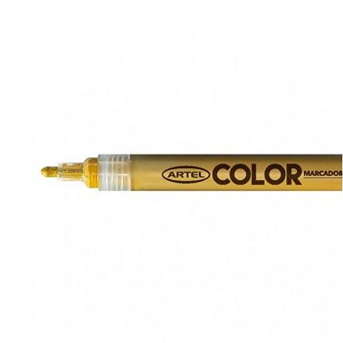 Marcador Acrílico Artel, punta 2mm ( Dorado)