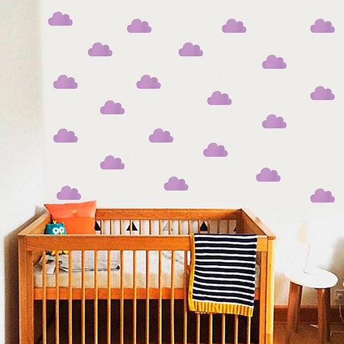 Nube Lila, vinilo deco muro