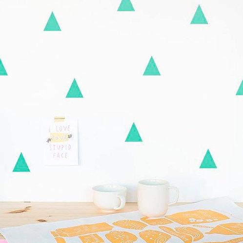 Triangulo verde agua, vinilo deco muro