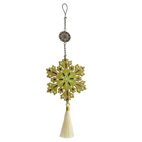 Colgante móvil mandala Flor (color dorado/ verde)