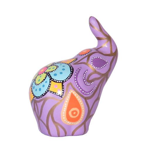 Elefante decorativo, Morado (Pequeño)