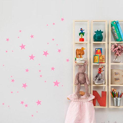 Estrella rosa, vinilo deco muro