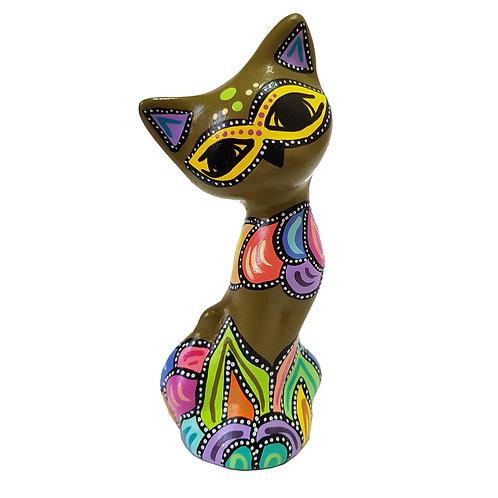 Gato decorativo ( Verde oliva)