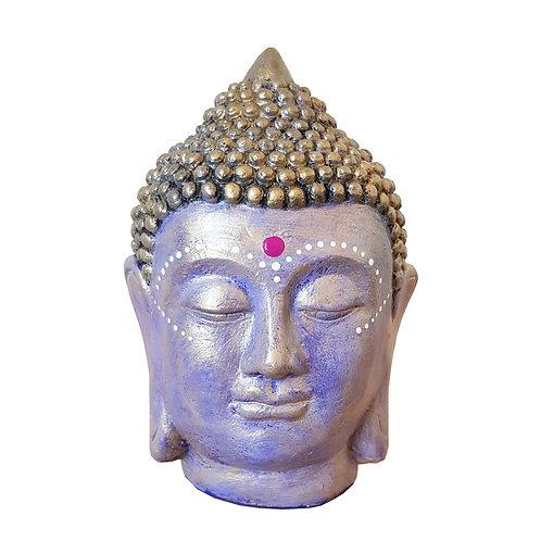 Cabeza Buda Lila/dorado