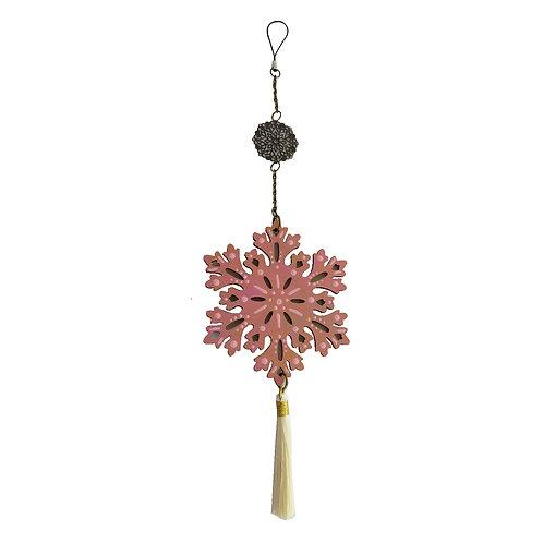 Colgante móvil mandala Flor (color dorado/ Rosa)
