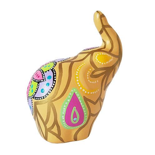Elefante decorativo, Ocre (Pequeño)