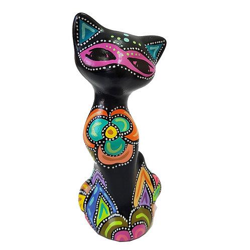 Gato decorativo ( Azul petroleo)