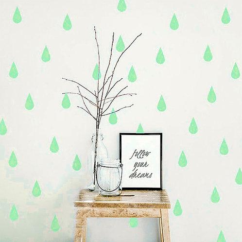 Gota Verde agua, vinilo deco muro