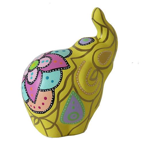 Elefante decorativo, Amarillo (mediano)