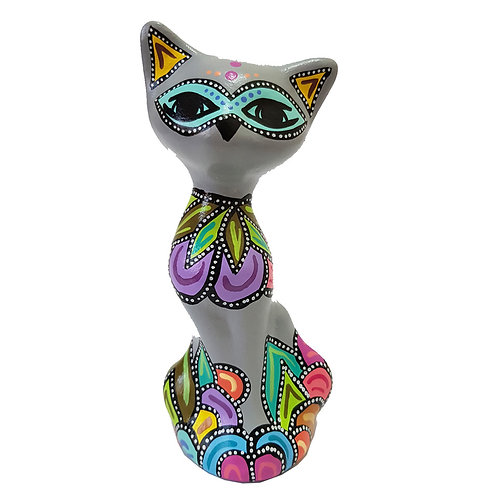 Gato decorativo ( Gris claro)
