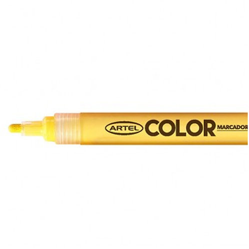 Marcador Acrílico Artel, punta 2mm ( Amarillo)