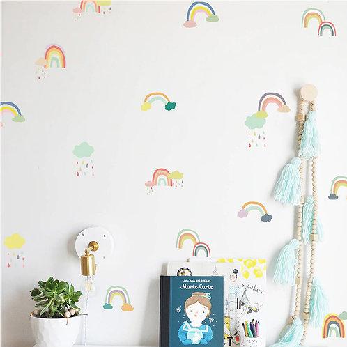 Arcoíris, vinilo deco muro