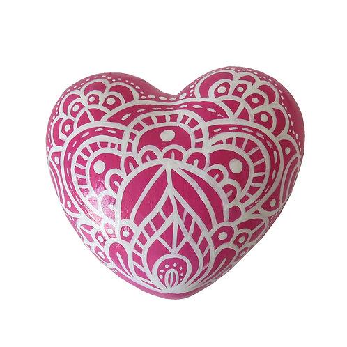 Corazón gordo rosado