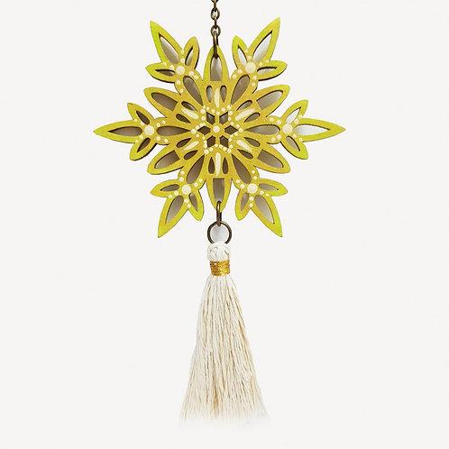 Colgante móvil mandala (color dorado y verde claro)