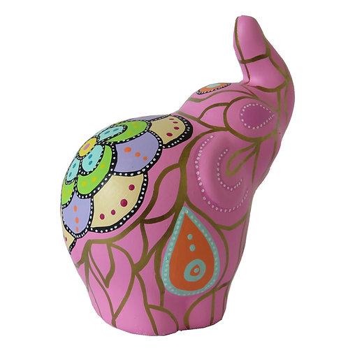Elefante decorativo, Rosado (grande)