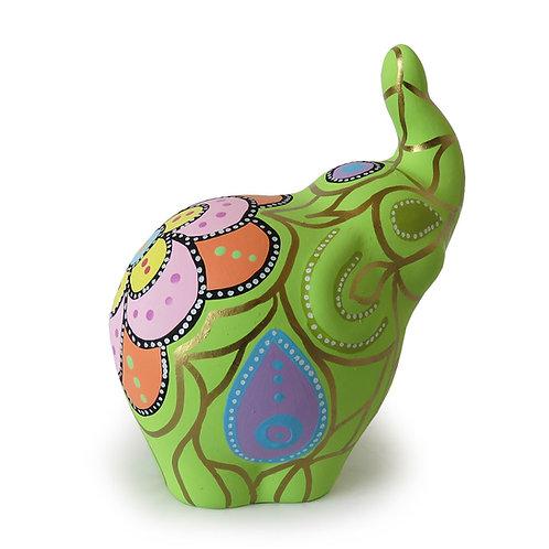 Elefante decorativo, Verde (mediano)