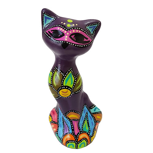 Gato decorativo ( Morado oscuro)