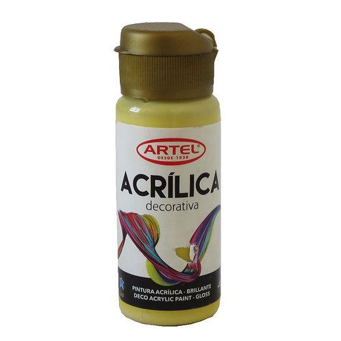 Pintura Acrílica Artel 60ml (Amarillo Pastel Nº303)