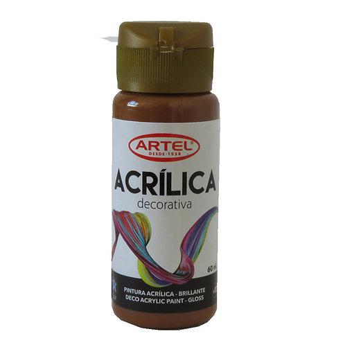 Pintura Acrílica Artel 60ml (Chocolate Nº600)