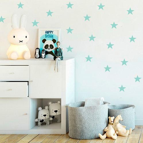 Estrella Azul, vinilo deco muro