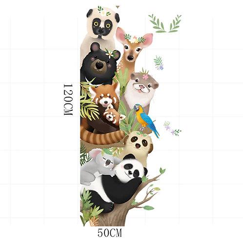 Animales (panda, koala y mas), vinilo deco muro
