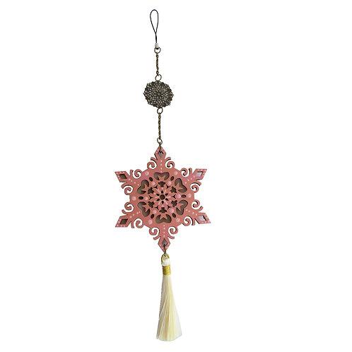 Colgante móvil mandala estrella (color dorado y rosa)