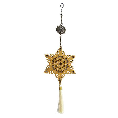 Colgante móvil mandala estrella (color dorado)