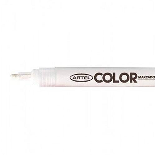 Marcador Acrílico Artel, punta 2mm ( Blanco)