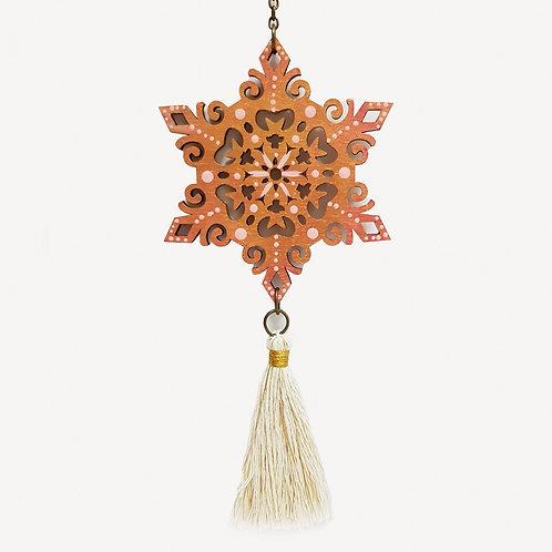 Colgante móvil mandala (color dorado y rosa)
