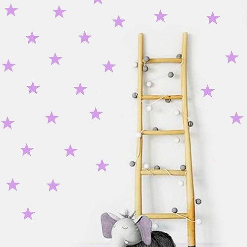 Estrella Lila, vinilo deco muro