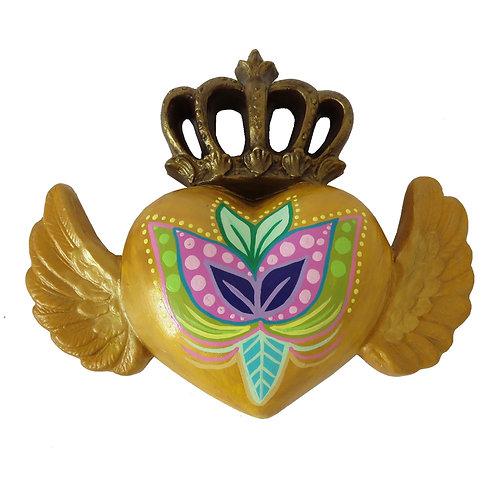 Corazón Alado corona Amarillo
