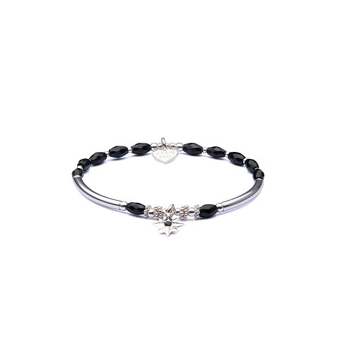 Onyx Twilight Star Bracelet