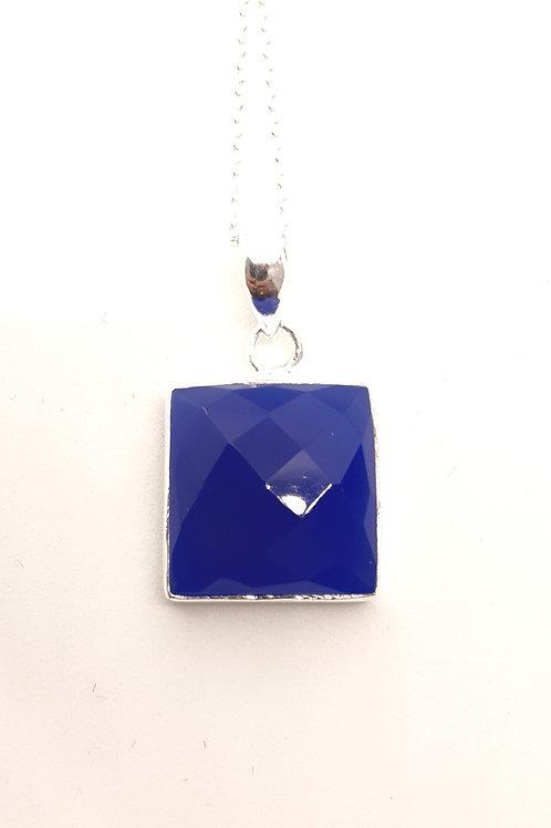 Bluestone silver pendant