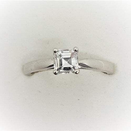 Solitaire Asscher cut Diamond ring